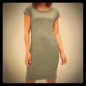 Maternity jersey knit T-shirt dress.